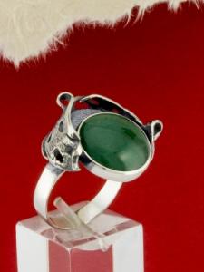 Сребърен пръстен - RK162 - Авантюрин