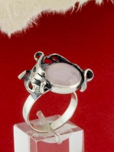 Сребърен пръстен - RK162 - Розов Кварц