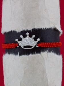 Гривна шамбала със сребърен символ КОРОНА