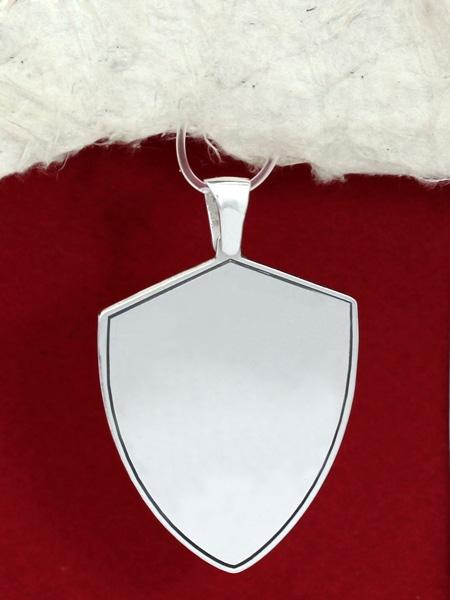 Сребърен медальон за гравиране - Щит