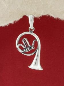 Сребърен медальон - P353