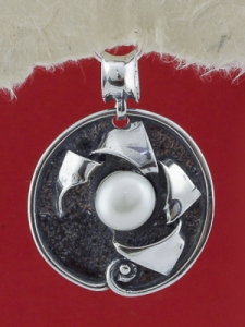 Сребърен медальон - SPK72