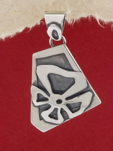 Сребърен медальон - SPK79