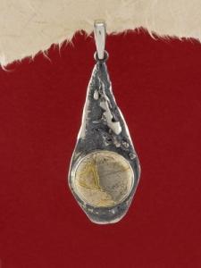 Сребърен медальон - PK381 - Вогесит