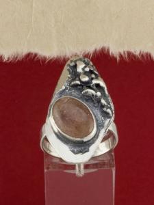 Сребърен пръстен - RK381 - Малинов ахат