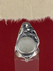 Сребърен пръстен - RK381 - Бял Авантюрин
