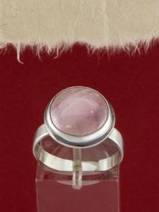 Сребърен пръстен - RK380 - Розов кварц