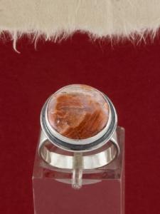 Сребърен пръстен - RK380 - Брекча яспис