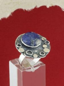 Сребърен пръстен - RK375 - Содалит