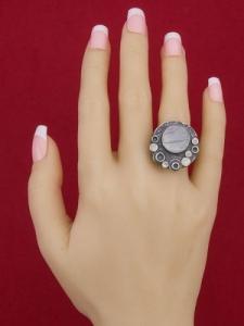 Сребърен пръстен - RK375 - Ивичест ахат