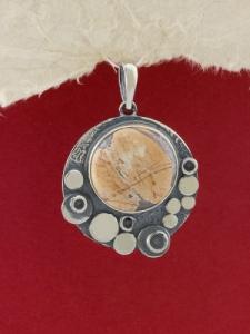 Сребърен медальон - PK375 - Брекча яспис
