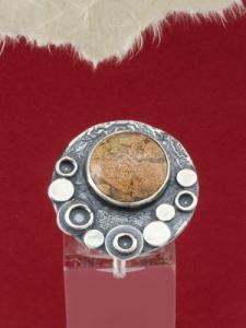 Сребърен пръстен - RK375 - Брекча яспис
