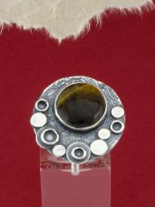 Сребърен пръстен - RK375 - Тигрово око
