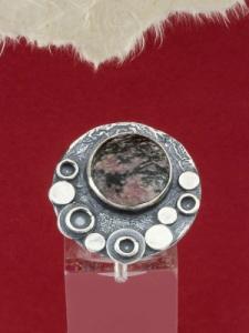 Сребърен пръстен - RK375 - Родонит