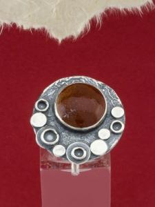 Сребърен пръстен - RK375 - Червен яспис