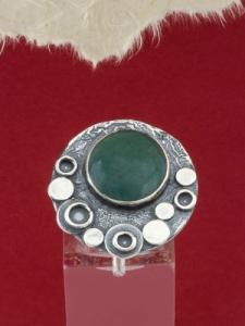 Сребърен пръстен - RK375 - Авантюрин