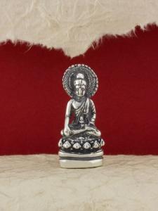 Сребърна фигура - Буда с ореол