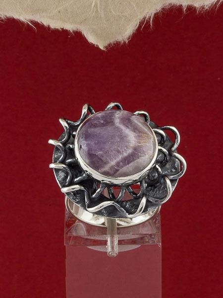 Сребърен пръстен - RKWS114 - Аметист