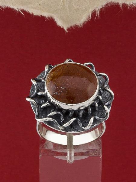 Сребърен пръстен - RKWS114 - Червен Яспис