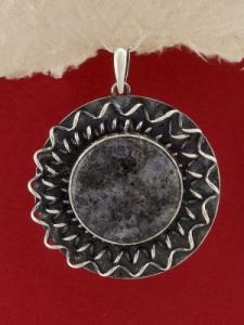 Сребърен медальон - PKWS114 - Кордиерит
