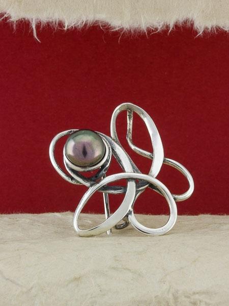 Сребърна брошка - BRK374