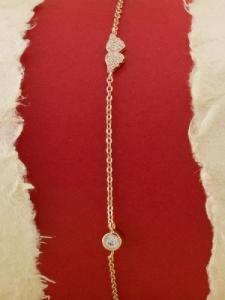 Сребърна гривна с розово родиево покритие -B-ASB925-0010.R