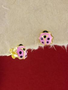 Сребърни обици със златно родиево покритие - E-ASGS925-0003.G