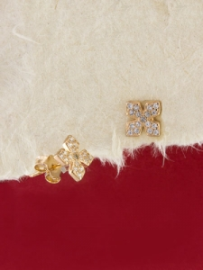 Сребърни обици с розово родиево покритие - E-ASS925-0007.R
