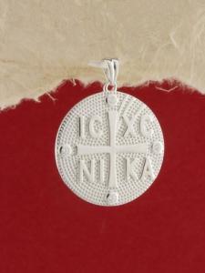 Сребърен медальон с родиево покритие - P-ASM925-0003.S