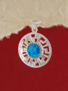 Сребърен медальон с родиево покритие - P-TOPM-0011