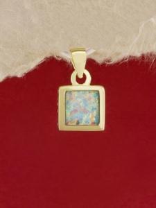 Сребърен медальон със златно родиево покритие - P-TOPM-0031.GW