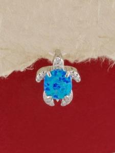 Сребърен медальон с родиево покритие - P-TOPM-0035