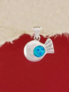 Сребърен медальон с родиево покритие - P-TOPM-0036