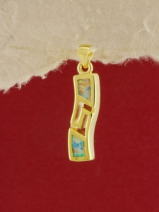 Сребърен медальон със златно родиево покритие - P-TOPM-0043.GW