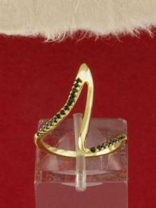 Сребърен пръстен със златно родиево покритие - R-ASD925-0050.G