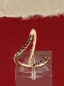 Сребърен пръстен с розово родиево покритие - R-ASD925-0050.R