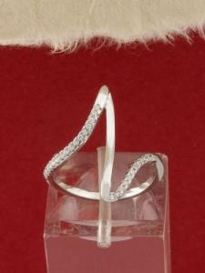 Сребърен пръстен с родиево покритие - R-ASD925-0050.S