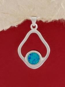 Сребърен медальон с родиево покритие - P-TOPM-0049