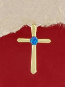 Сребърен медальон със златно родиево покритие - P-TOPM-0063.GB