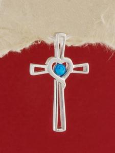 Сребърен медальон с родиево покритие - P-TOPM-0065