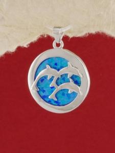 Сребърен медальон с родиево покритие - P-TOPM-0087