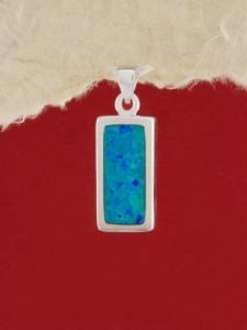 Сребърен медальон с родиево покритие - P-TOPM-0091