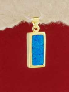 Сребърен медальон със златно родиево покритие - P-TOPM-0091.GB
