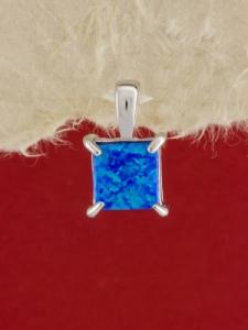 Сребърен медальон с родиево покритие - P-TOPM-0094