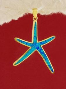 Сребърен медальон със златно родиево покритие - P-TOPM-0102.GB