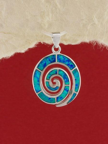 Сребърен медальон с родиево покритие - P-TOPM-0105