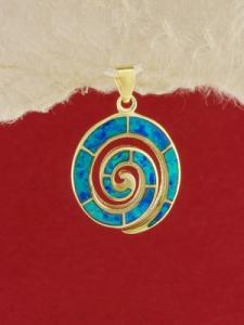 Сребърен медальон със златно родиево покритие - P-TOPM-0105.GB