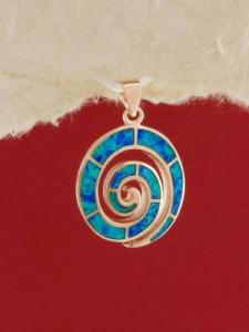 Сребърен медальон с розово родиево покритие -P-TOPM-0105.RB