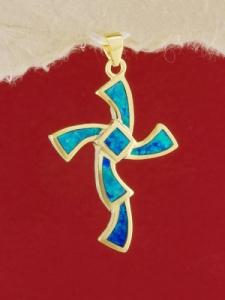 Сребърен медальон със златно родиево покритие - P-TOPM-0111.GB