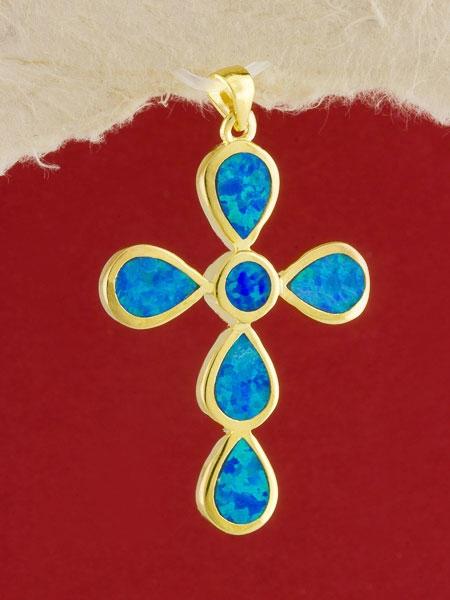 Сребърен медальон със златно родиево покритие - P-TOPM-0112.GB